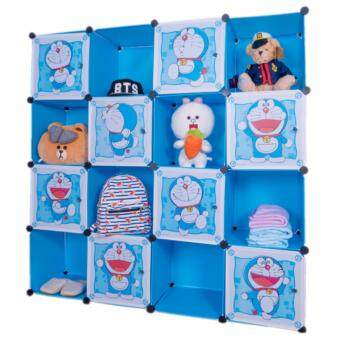 Harga Stackable Cube Storage (16 Cubes) - Doraemon