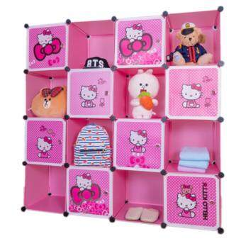 Harga Stackable Cube Storage (16 Cubes) - Hello Kitty