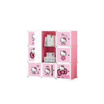 Harga Stackable Cube Storage (9 Cubes) - Hello Kitty