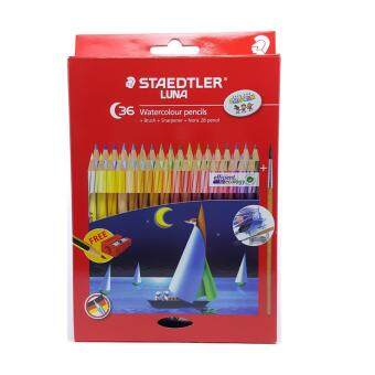 Harga Staedtler LUNA WaterColour Pencil ( 36 Colour + Brush + Sharpener )