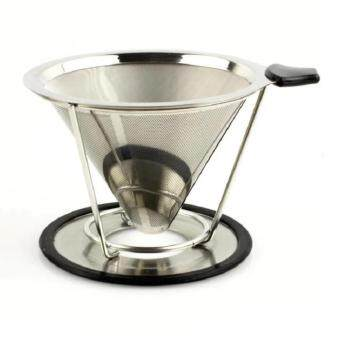Harga Stainless Steel Coffee Dripper Pour Over Coffee Filter (4 CupsSize)
