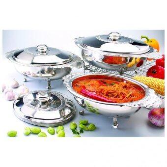 Aro 8l rectangular chafing dish shop online unibest for Harga kitchen set stainless per meter