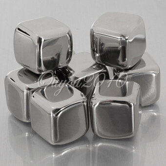 Harga Stainless Steel Ice Cubes Cool Glacier Rock Neat Drink Freezer GelWine Whiskey Stones