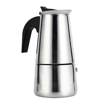 Harga Stainless Steel Percolator Moka Pot Espresso Coffee Maker StoveHome Office Use (200ml)