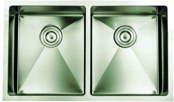 Stainless Steel Undermount Kitchen Sink Double Bowls 876mm ...