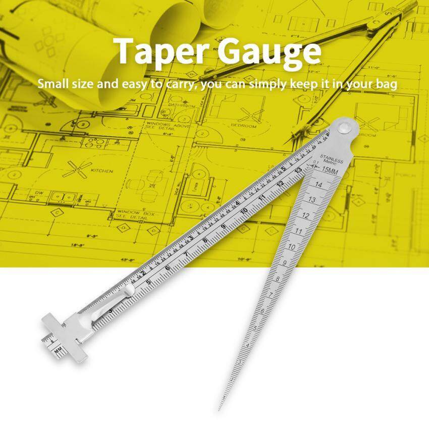 Stainless Steel Welding Taper Gap Gauge Depth Ruler Hole Inspection Tool - intl
