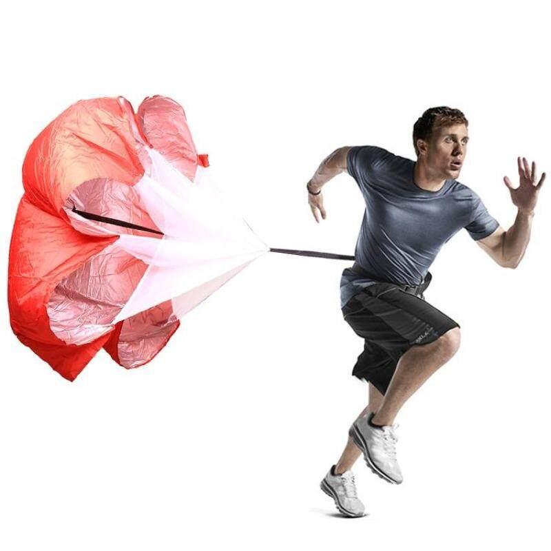 Buy Strength Training Fitness Umbrella Speed Drills Wind Air Resistance Strength Training Parachute Umbrella(Red) Malaysia