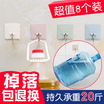 Strong traceless kitchen wall stick hook viscose adhesive hook