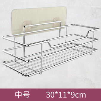 Suction wall-mounted toilet storage rack bathroom shelf