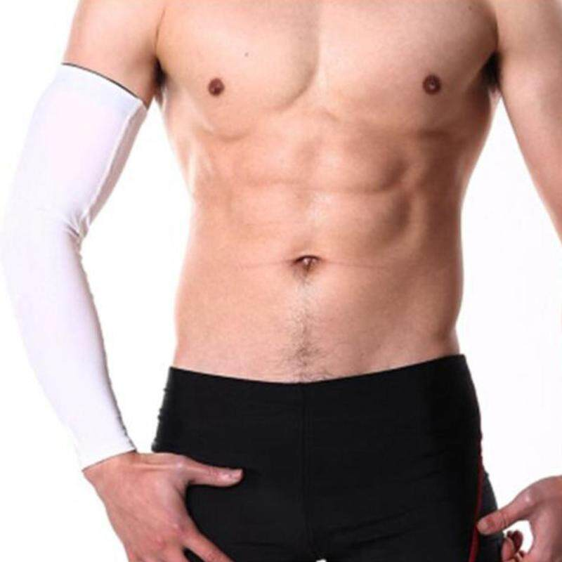 Sunshop 1pc Outdoor Silicone Anti-slid Sunscreen Long Sleeves Cover Hand Arm Elbow Protector Gear (L)