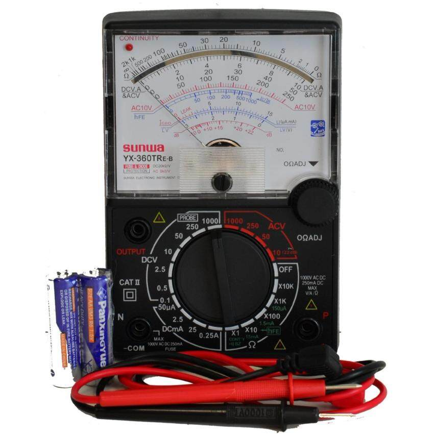 Sunwa Analog Multimeter Multi Meter Tester With Buzzer & LED Continuity Check (XY360TREB) -
