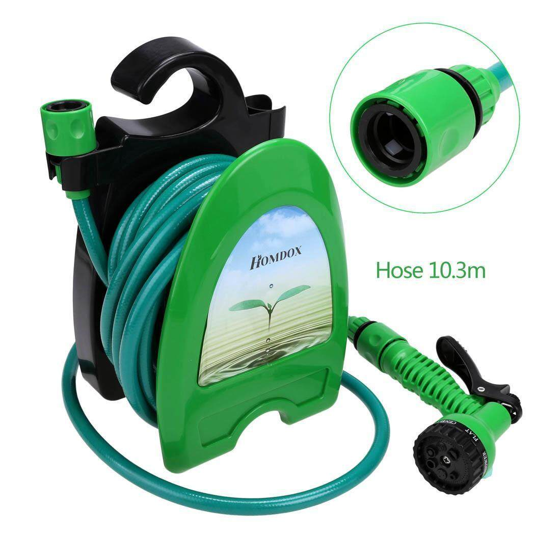 Sunwonder Homdox Green Expandable 10m Water Tube Flexible Garden Water Hose Nozzle Spray - intl