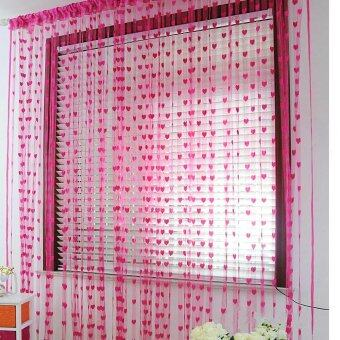 Tassel Line String Drape Curtain for Wall Door Window VestibuleHome Decor Divider 1m x 2m Rose