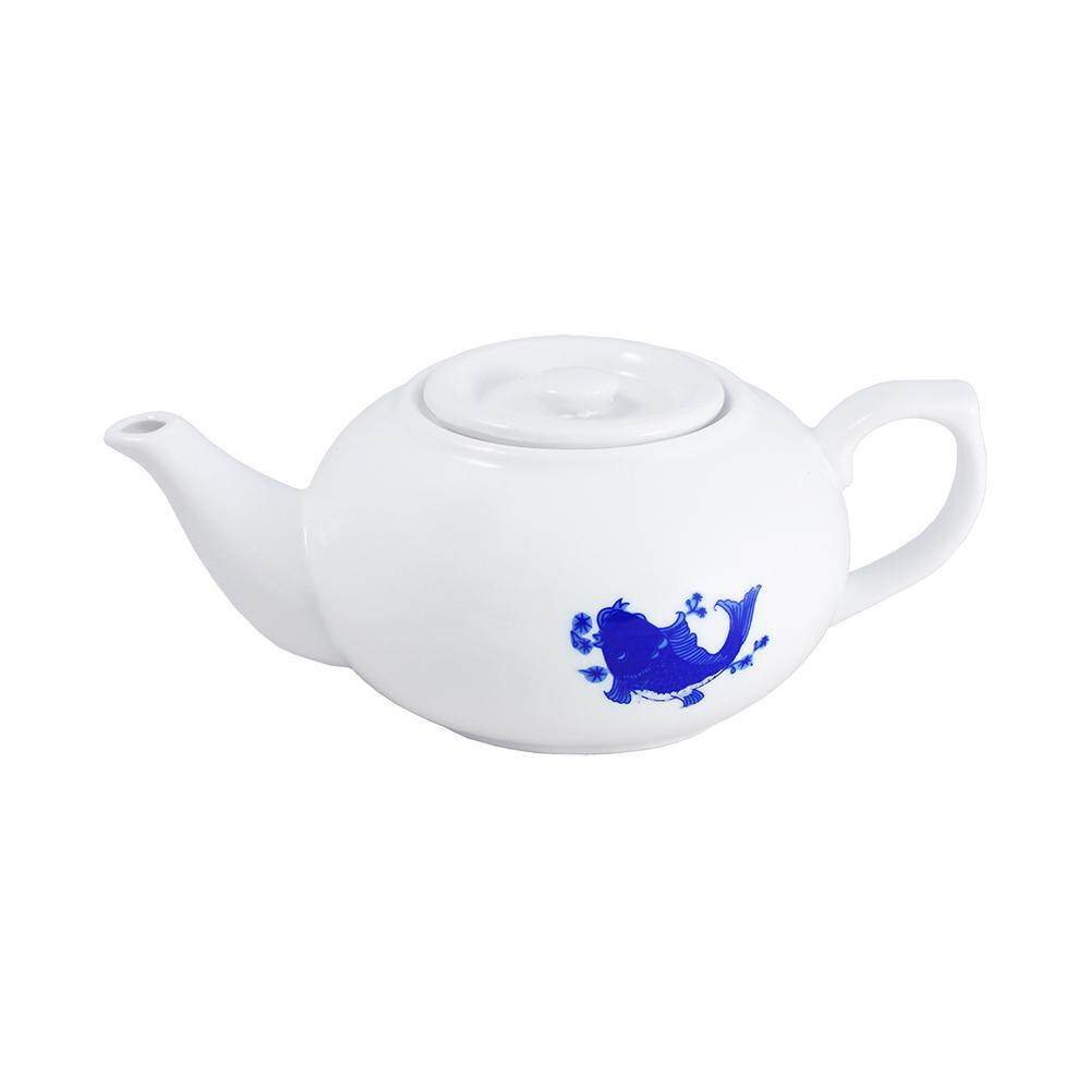 Tea Pot New Blue Fish [C304-F3]