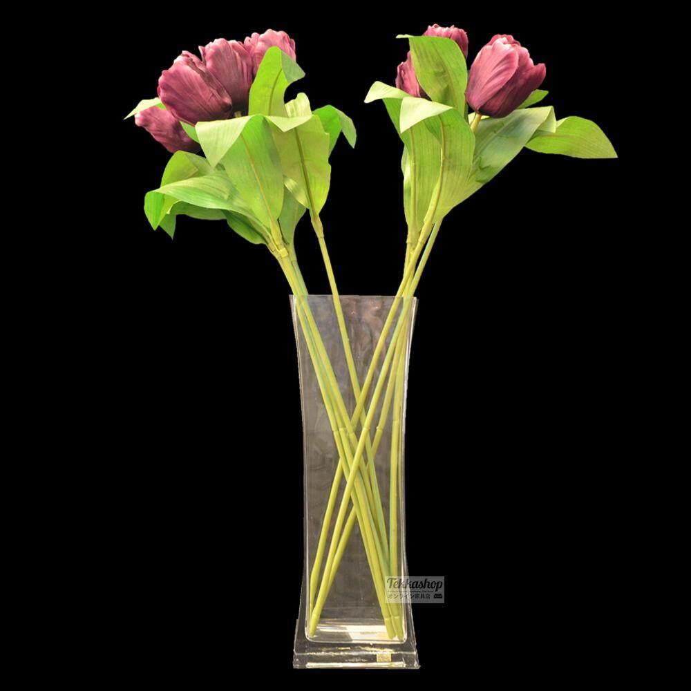Tekkashop DEPL003 Clear Glass living room decoration Vase with Flowers
