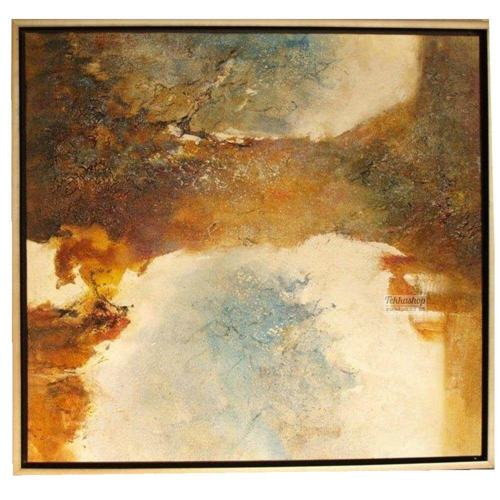 Tekkashop DW-1013 Wall Decoration Oil Style Wall painting Lake View (with Frame) 97x97cm