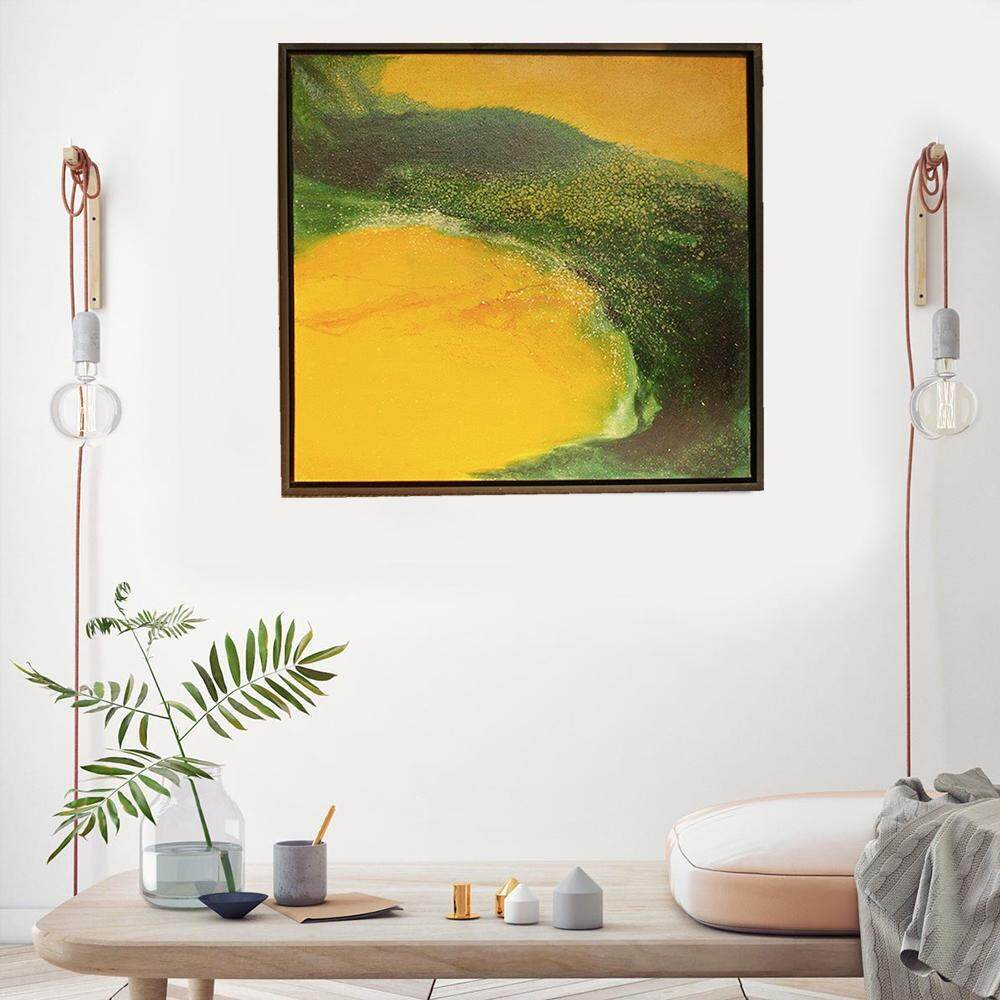 Tekkashop DW-1019 Wall Decoration 3D Oil painting The Illusion of Moon Beach (with Frame) 97x97cm