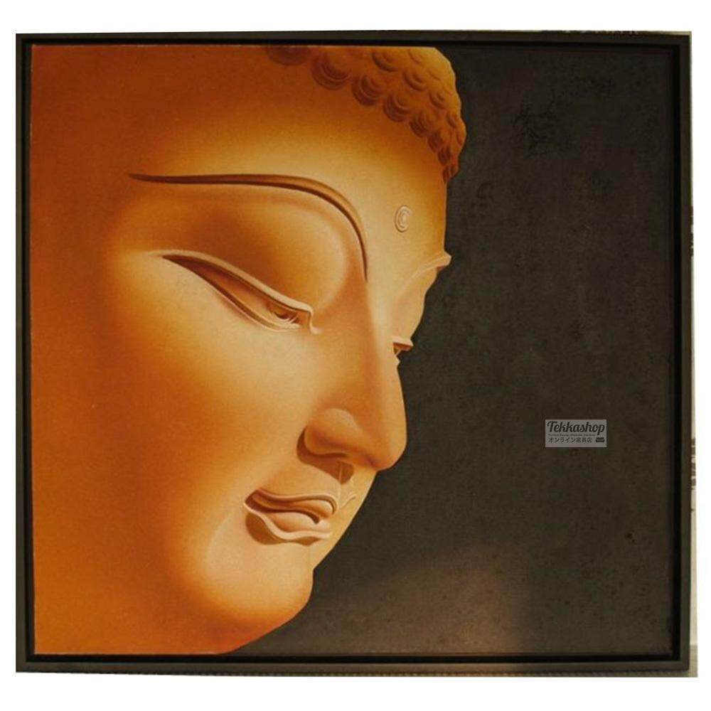 Tekkashop DW-1039 Wall Decoration 3D Oil painting Buddha Face (with Frame) 97x97cm