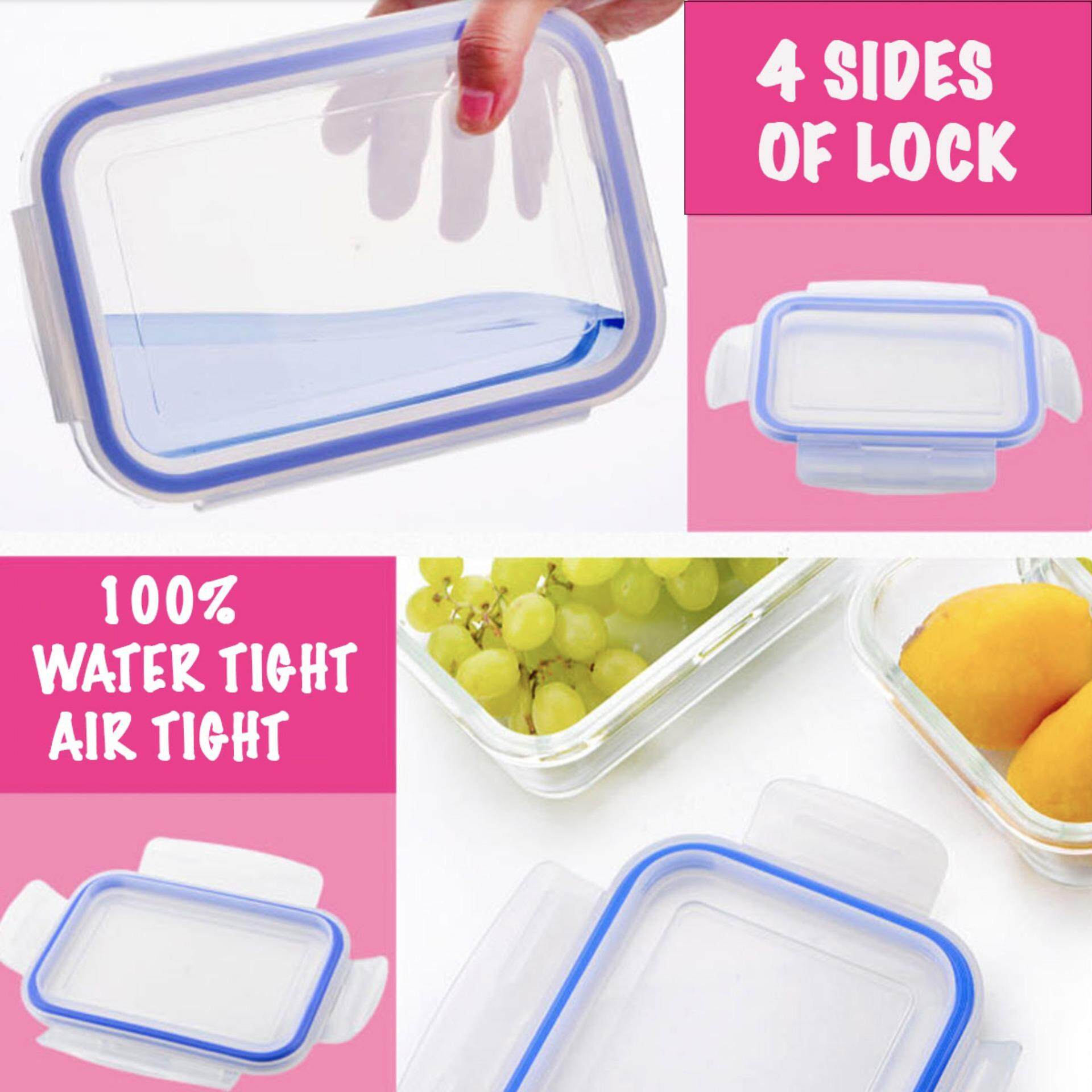TEKKASHOP H0268 Microwave Oven Proof Lunch Box Food Glass Container + Free Gift