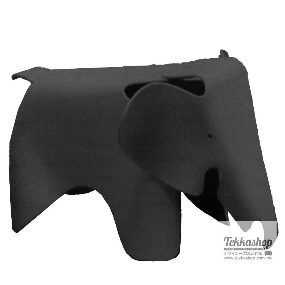 Tekkashop KKM3158LC Kindergarden Kid Furniture Metal Funky Elephant Ottoman Seat, Black