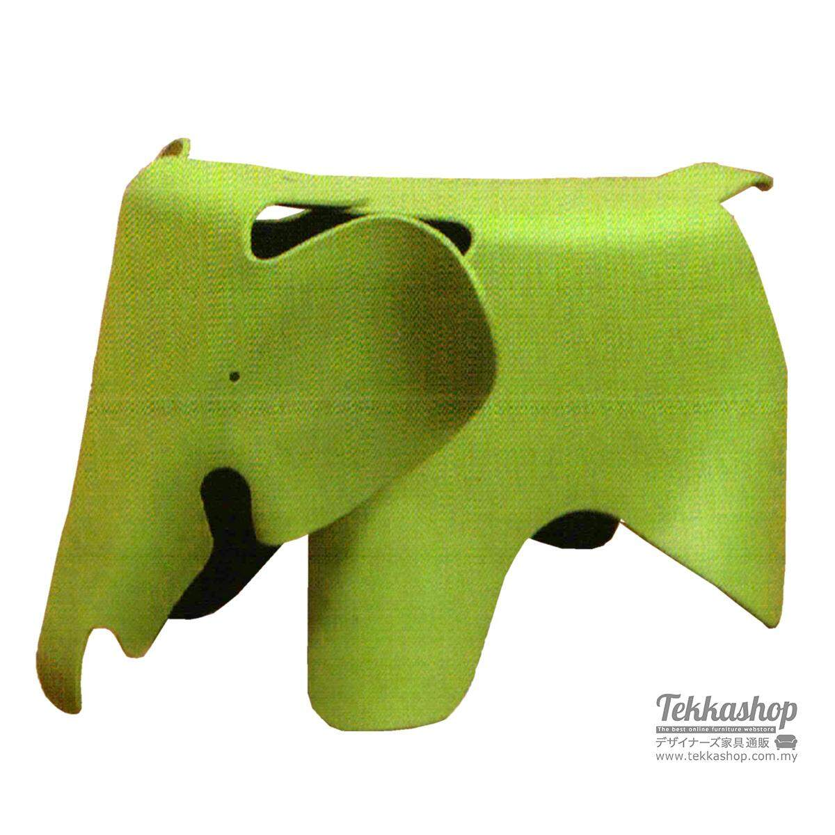 Tekkashop KKM3158LC Kindergarden Kid Furniture Funky Elephant Ottoman Seat, Green