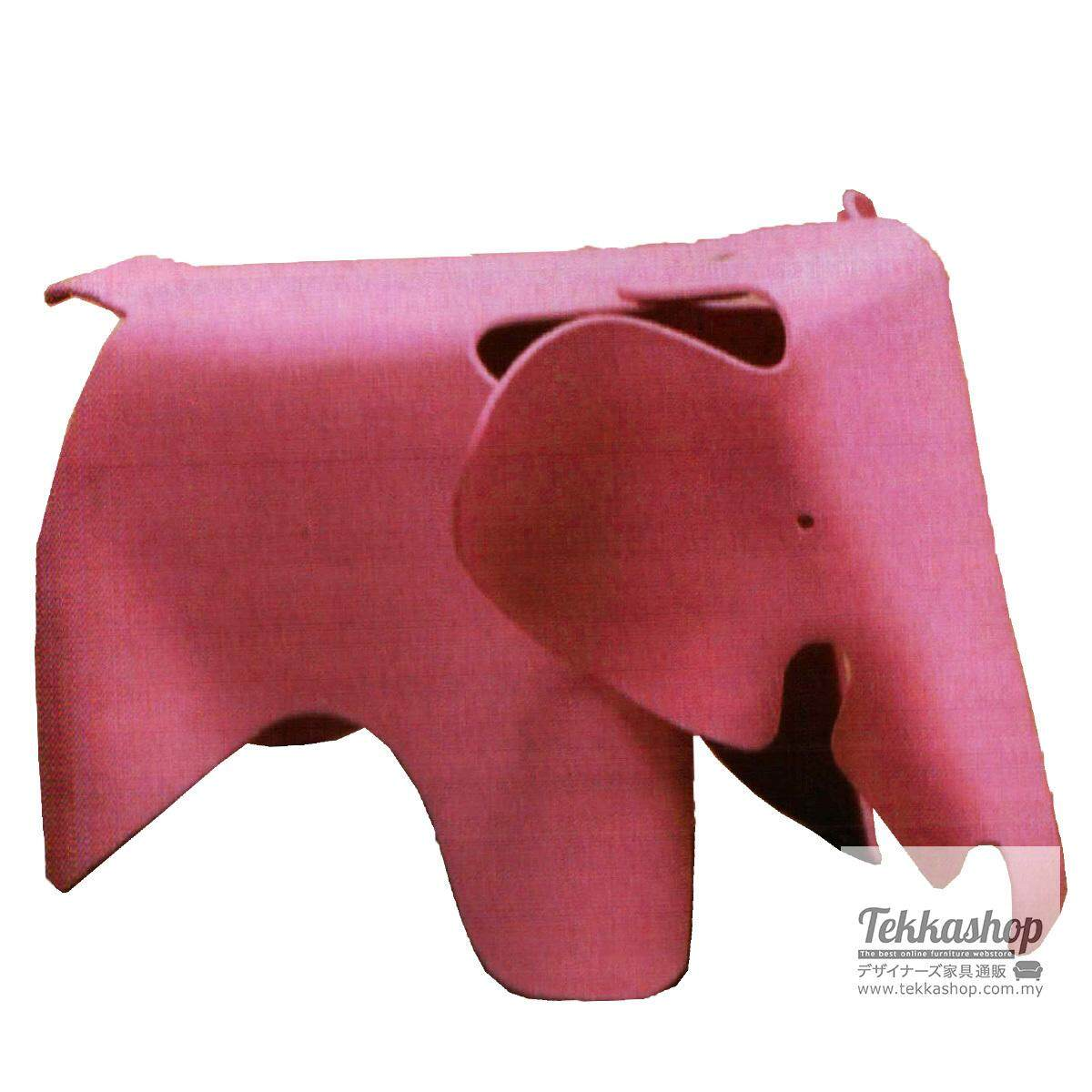 Tekkashop KKM3158LC Kindergarden Kid Furniture Elephant Shape Ottoman Seat, Pink