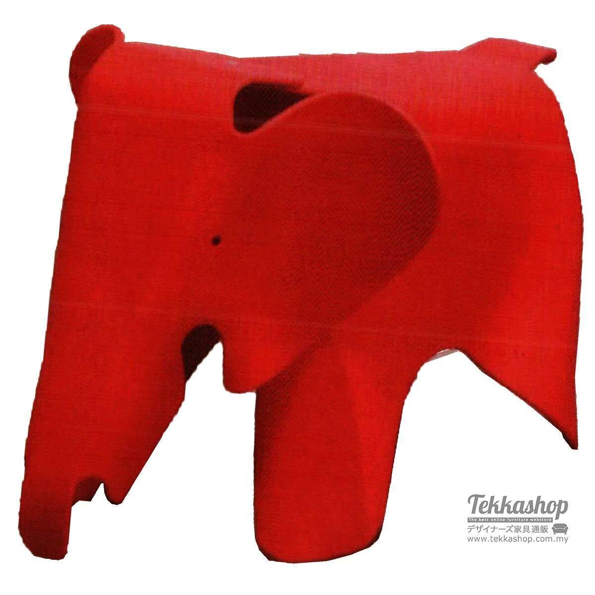 Tekkashop KKM3158LC Kindergarden Kid Furniture Metal Made Funky Elephant Ottoman Seat, Red