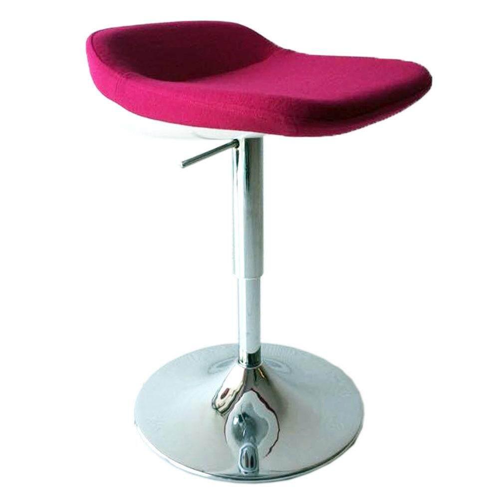 Tekka Sc1036p Fabric Padding Cushion Chrome Steel Bar Chair Stool Pink Red