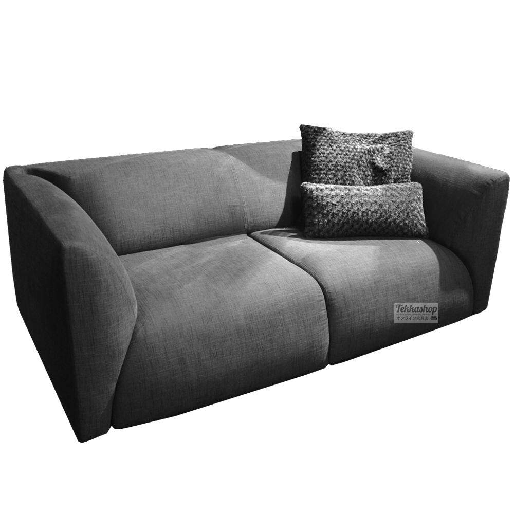 Tekkashop SF-3000XXL 2.5 Seater Fabric Sofa + Free Cushions (As Picture) Grey