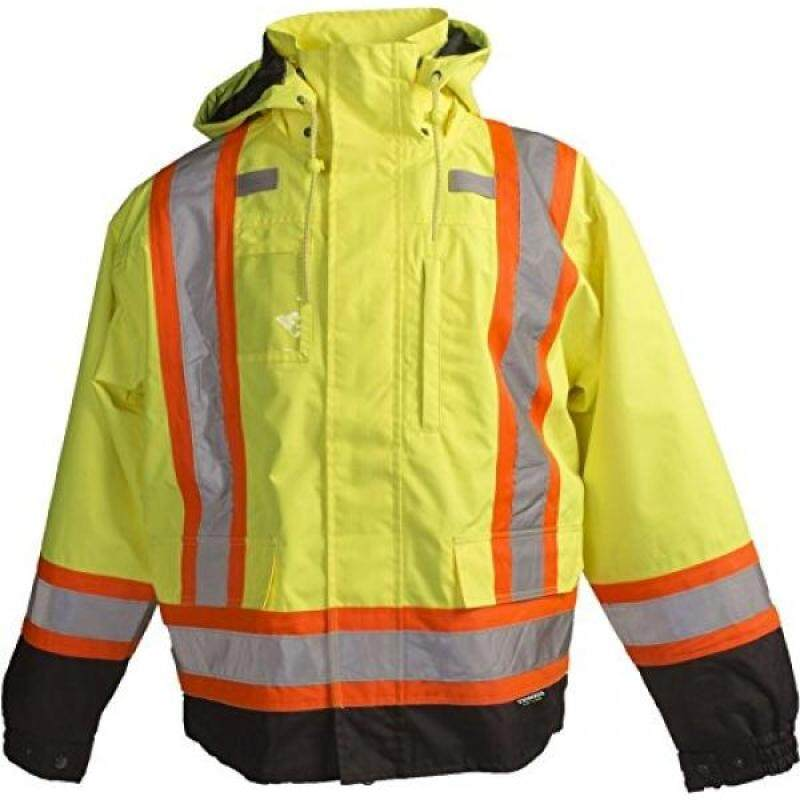Buy Terra 116501YLL High-Visibility 7-In-1 Reflective Safety Jacket, Yellow, Large Malaysia