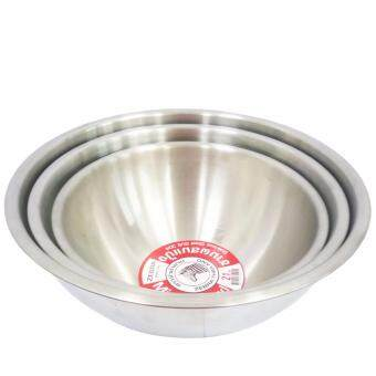 Thailand Zebra Brand | Stainless Steel Super Heavy Cookingware Mixing Bowl (24cm) 1pc