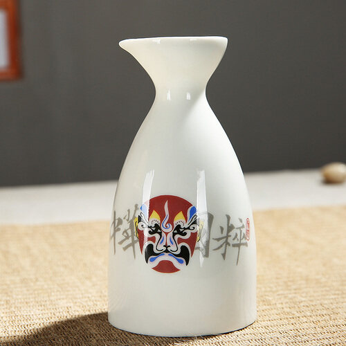 The porcelain and ceramics wine has Chinese theatrical mask white spirit strong drink cup 300ML-Great Mug - intl