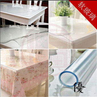 Harga Through the crystal table desktop protective film cloth mm 8mm softplastic transparent tablecloth PVC film 1.2 1.5