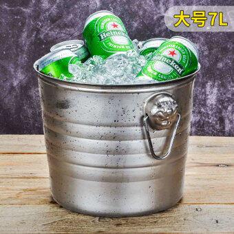 Tiger stainless steel ice bucket KTV champagne bucket wine bucket spit barrels ice particles barrel bar beer barrels Shipping