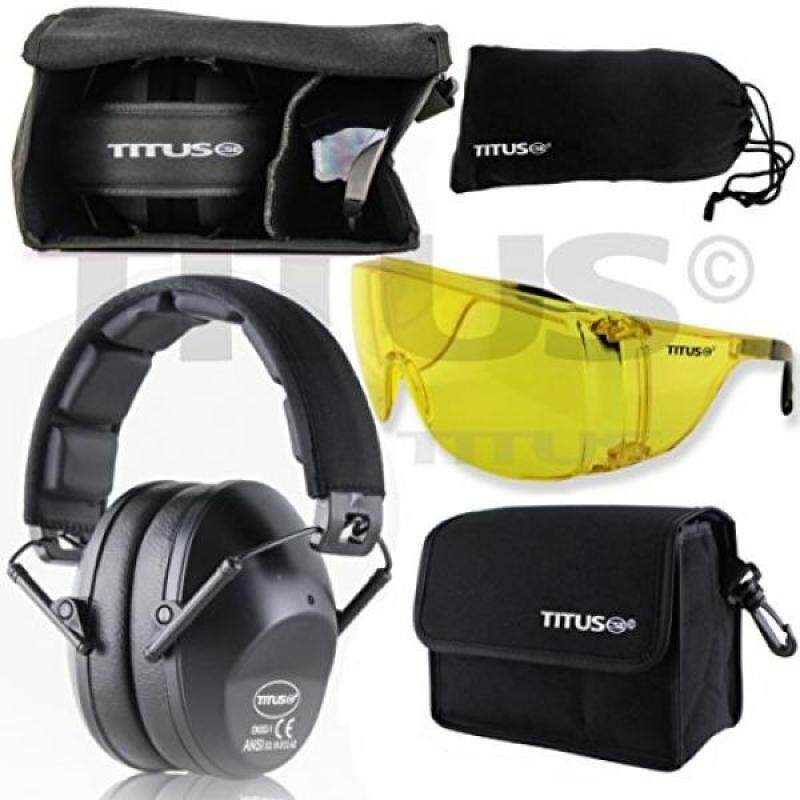 Buy TITUS Earmuff/Glasses Combo – Bow-Profile Muffs & G Series Safety Glasses - Ear+Eye Protection Bundle - Personal Safety Malaysia