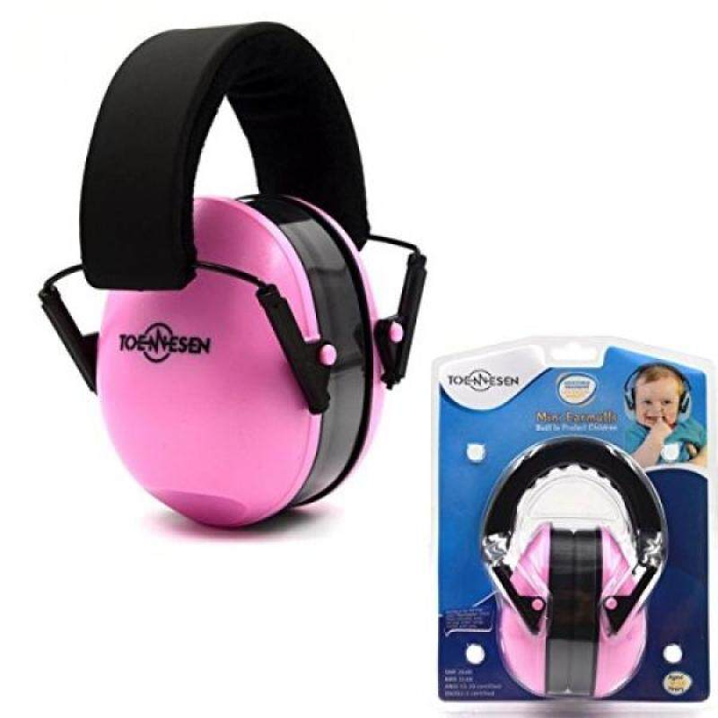 Toennesen Safety Kids Baby Ear Muffs Noise Reduction Baby Ear Defenders Hearing Protection Noise Canceling for 0-12 Years Children Babies and Small Adults with Adjustable Padded Headband Pink