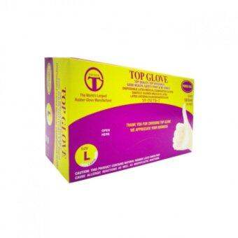 Harga Top Glove Powder Free Disposable Latex Medical Examination Gloves(100PCS/BOX) SIZE-L