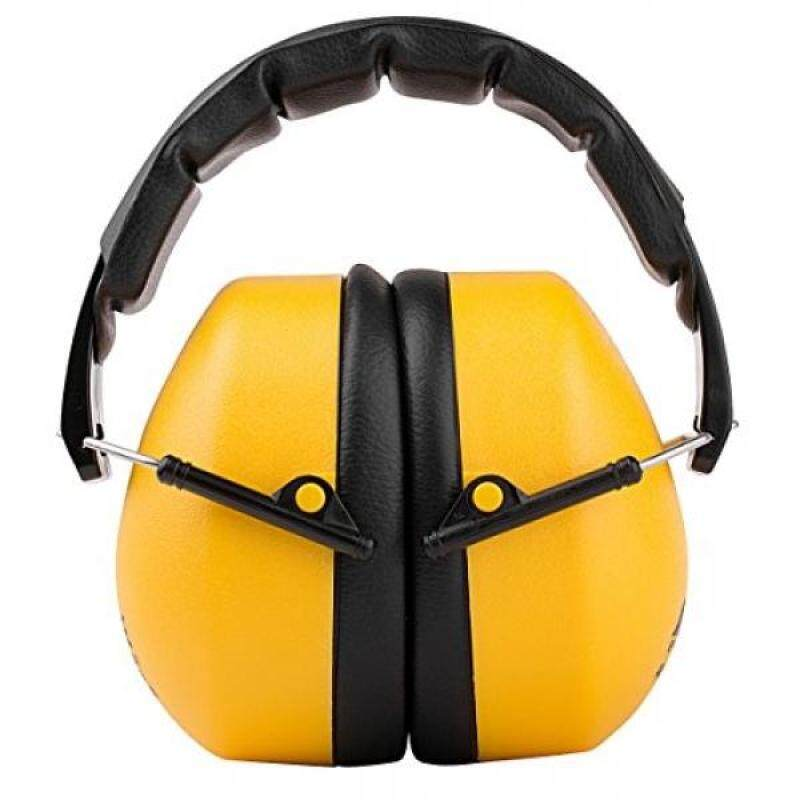 Buy TR Industrial Schutz Compact Foldable Ear Muffs with Soft Adjustable Headband, NRR = 34dB, CE Approved, ANSI S12.42/S3.19, Yellow, Black Malaysia