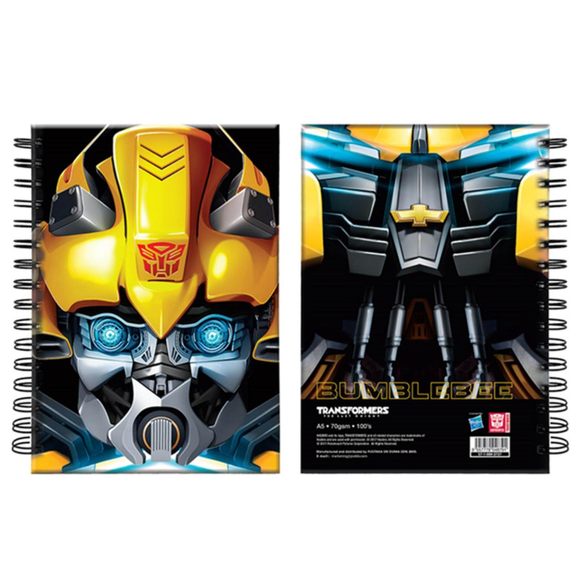 Transformers The Last Knight A5 Hard Cover Notebook Set - Optimus & Bumblebee