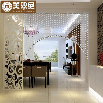 Harga Transparent color curved entrance partition curtain