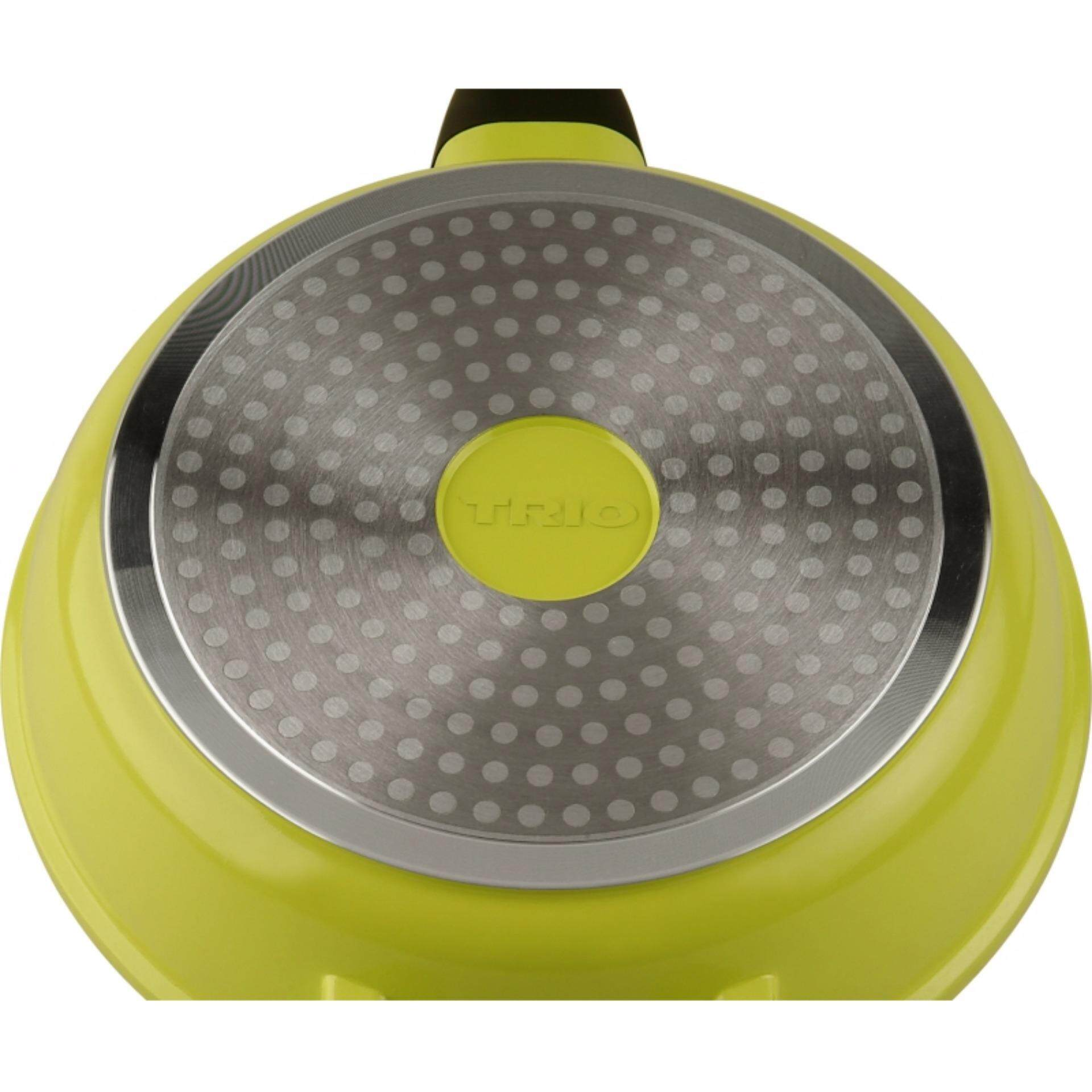 Trio TFP-124 Frying Cooking Pan 2 Layer Ceramic Coating Non-stick (Yellow)