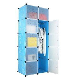 Tupper Cabinet 10 Cubes 1-Hanger DIY Wardrobe Blue | Lazada Malaysia