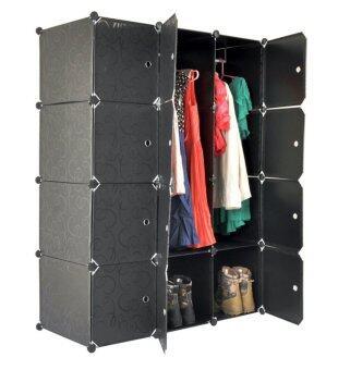 Tupper Cabinet 12 Cubes Black Stripes DIY Wardrobe | Lazada Malaysia
