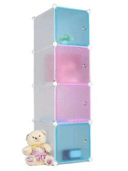 Harga Tupper Cabinet 4 Cubes Straight Mix Colour DIY Cabinet