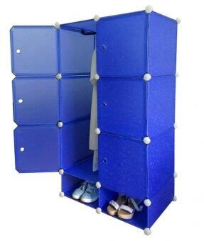 Tupper Cabinet 8 Cubes Blue Water DIY Wardrobe With Shoe Rack ...