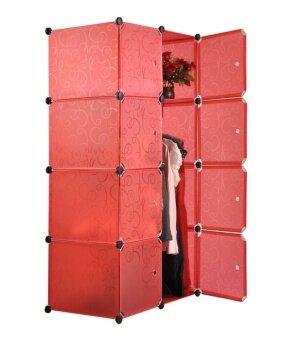 Tupper Cabinet 8 Cubes DIY Wardrobe - Red | Lazada Malaysia