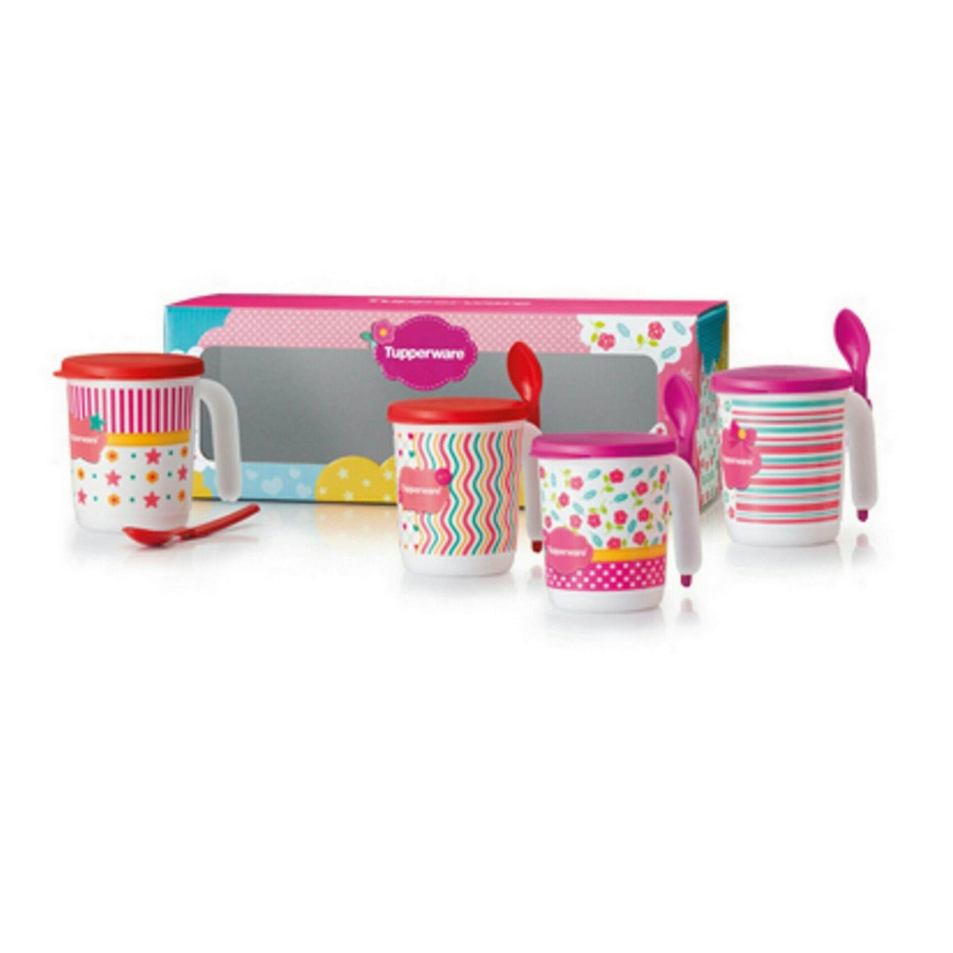 Tupperware Blushing Pink Mug Set (4)