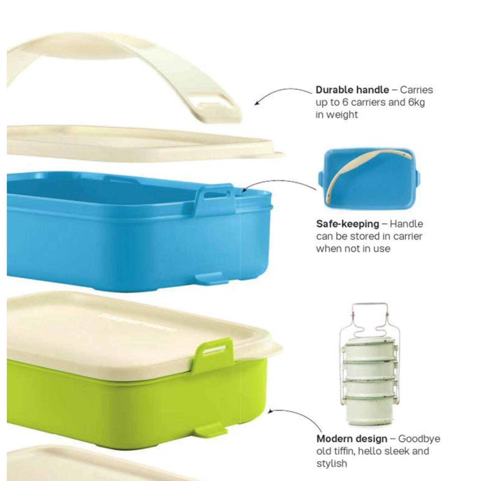 Tupperware Click To Go (2) 900ml - Blue and Green Set