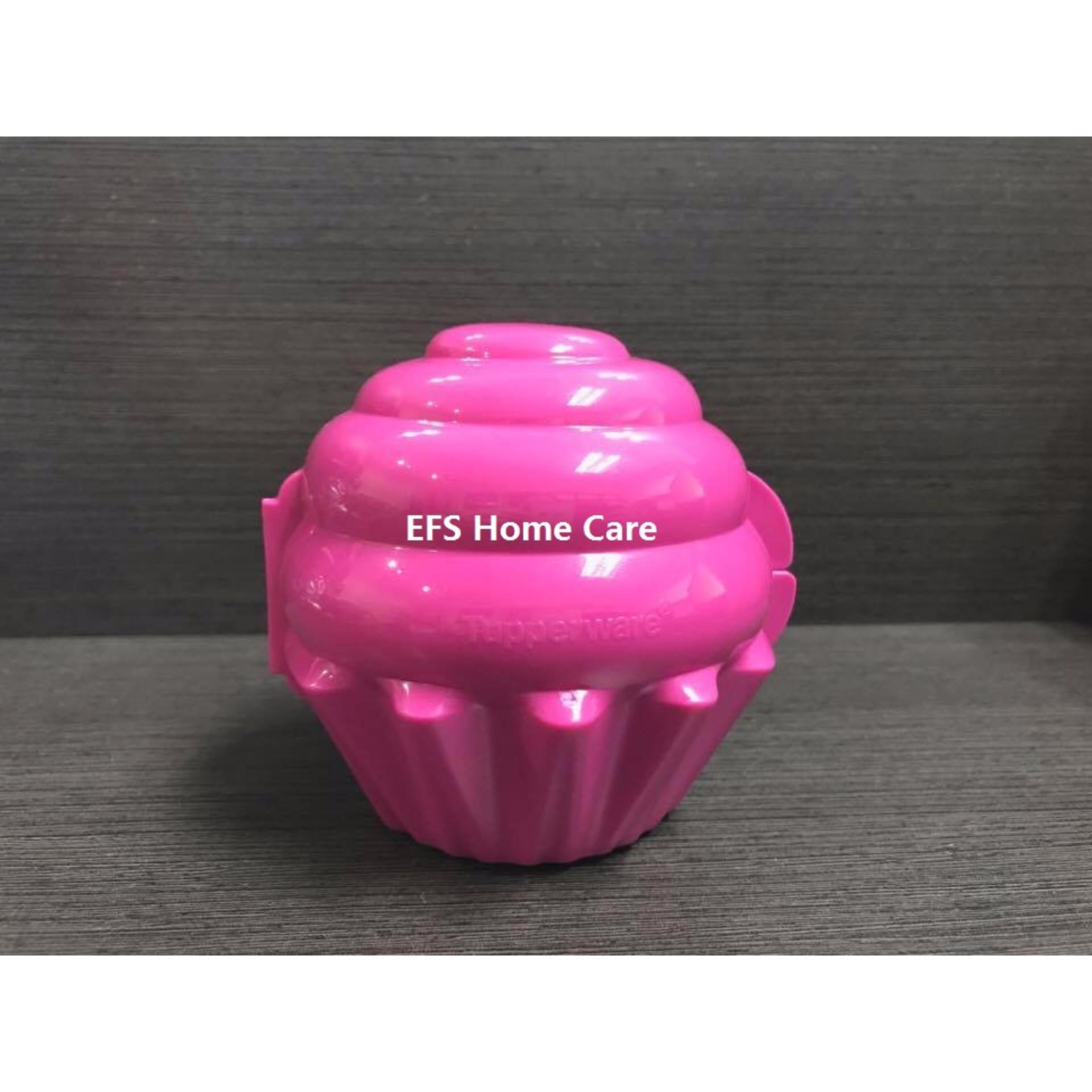 Tupperware Cup Cake Holder (1) Dark Pink - Oversea Stock