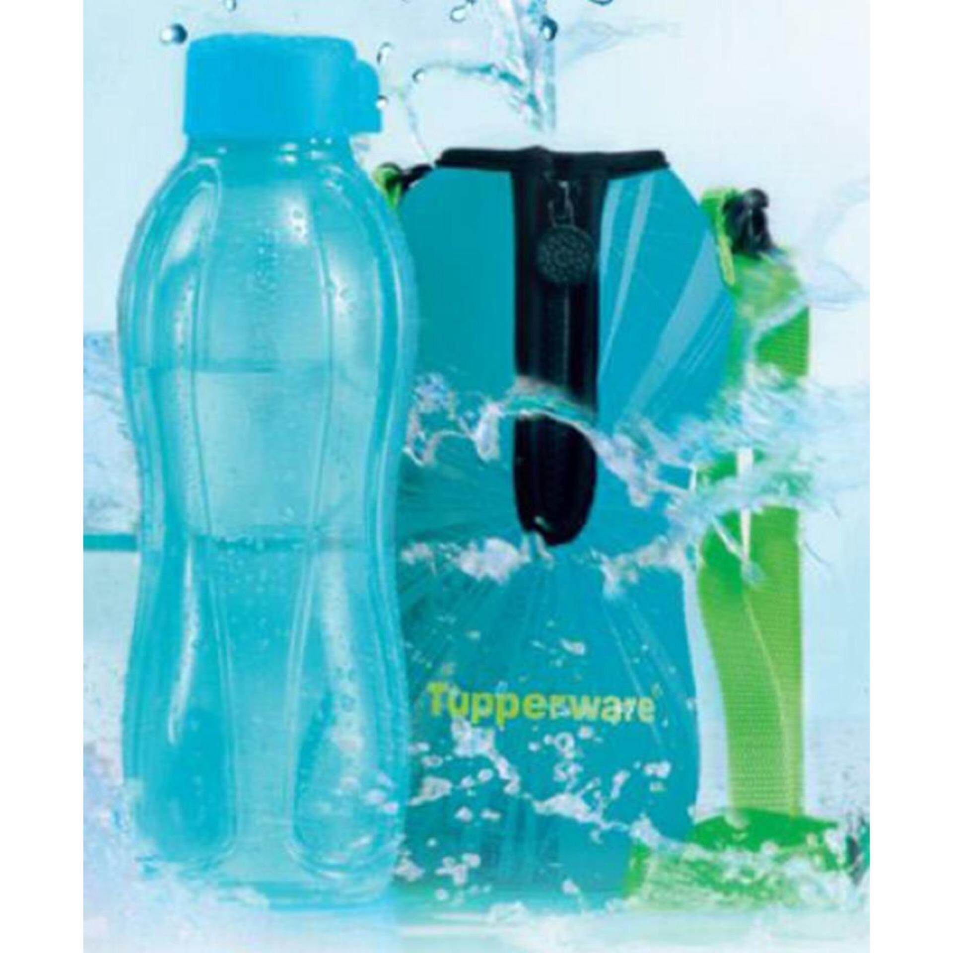 Tupperware Eco Bottle (1) 1L with Pouch - Limited - Cool Aqua